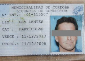 Führerschein in Argentinien